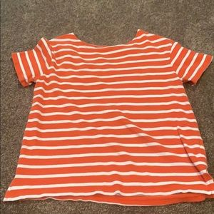 Striped red T-shirt